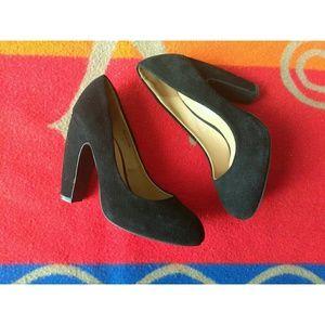Kimichi Blue Black Suede Heels